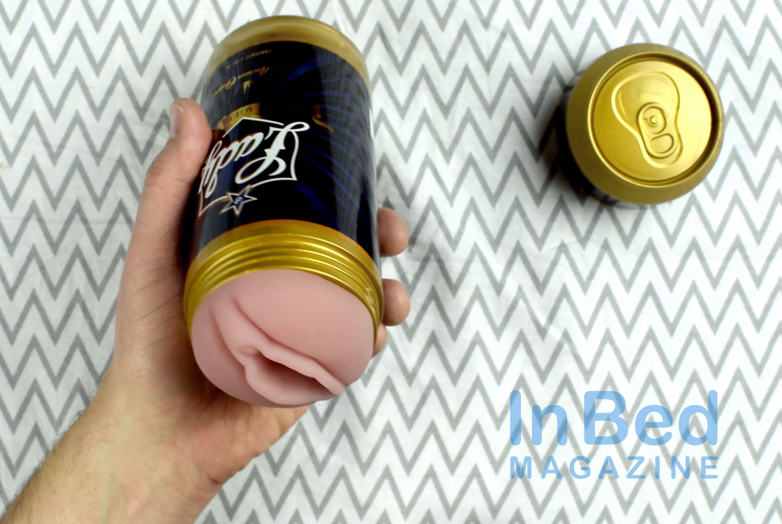 Fleshlight Lady Lager Sex in a Can in hand