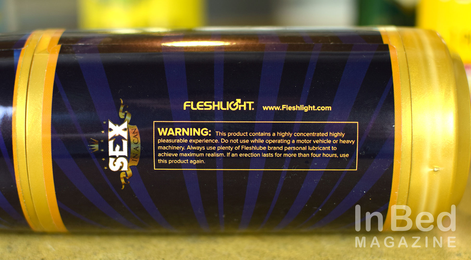 Fleshlight Lady Lager spoof of a beer label