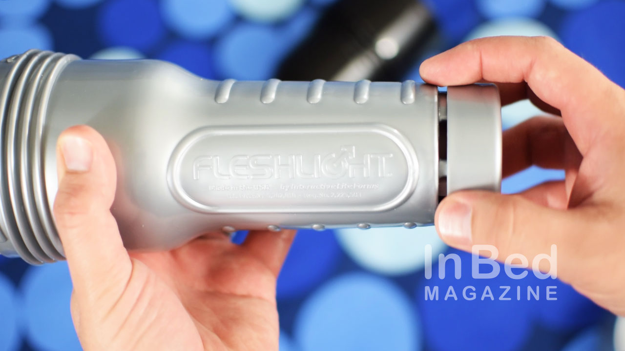 Adjusting the end cap on the Fleshlight regulates air tightness.